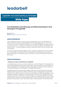 White Paper - Vom Lead-Capturing zur Kampagne (SugarCRM) - Cover