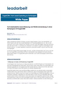 White Paper - Vom Lead-Capturing zur Kampagne (SugarCRM) - Cover